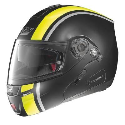 Nolan B-Ware Helm N91 EvoStrip NCom#28, schwarz-matt-neongelb