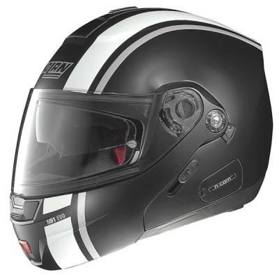 Nolan Helm N91 Evo Strip #29,schwarz-matt-weiß