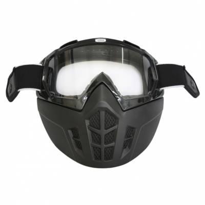 Premier Brillenmaske Vintage Mask, schwarz