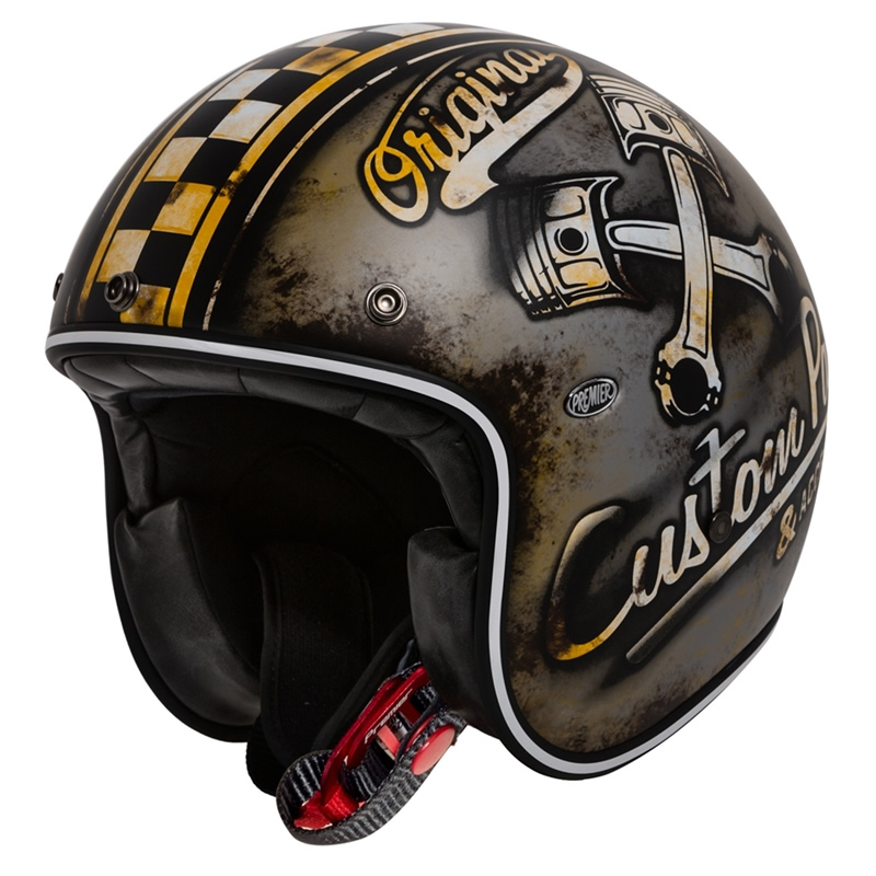 Premier Helm Le Petit OP9 BM, schwarz-braun matt