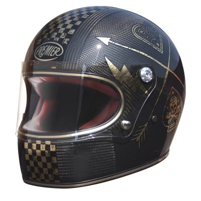 Premier Helm Trophy Carbon NX Gold, schwarz-gold