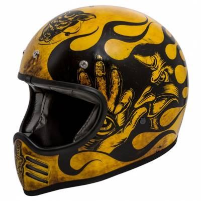 Premier Helm Trophy MX BD 12 BM, schwarz-gelb matt