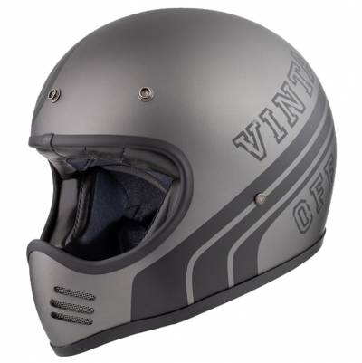 Premier Helm Trophy MX BTR17 BM, grau-schwarz-matt