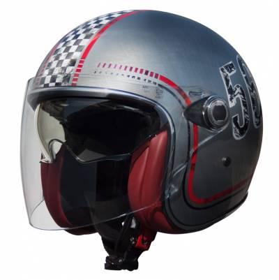 Premier Helm Vangarde FL Chromed, silber-rot-schwarz