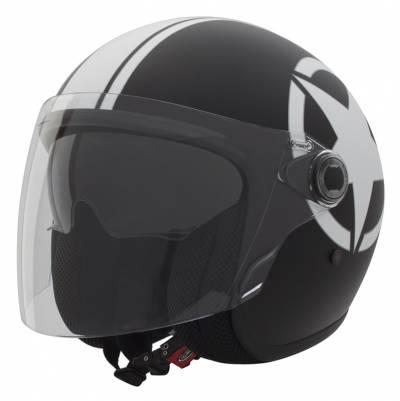 Premier Helm Vangarde Star 9 BM, schwarz-weiß matt