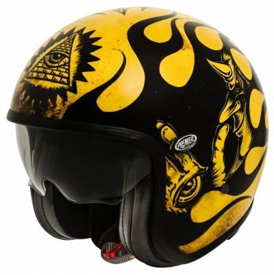 Premier Helm Vintage BD 12 BM, schwarz-gelb matt
