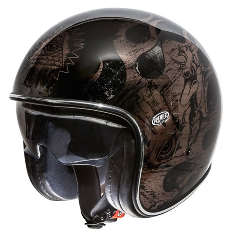 Premier Helm Vintage BD, schwarz-grau-chrom