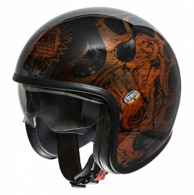 Premier Helm Vintage BD, schwarz-orange-chrom
