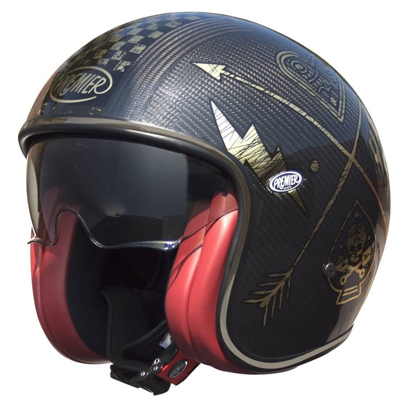 Premier Helm Vintage Carbon NX Gold, schwarz-gold