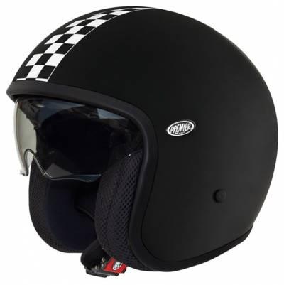 Premier Helm Vintage CK 9 BM, schwarz-weiß-matt