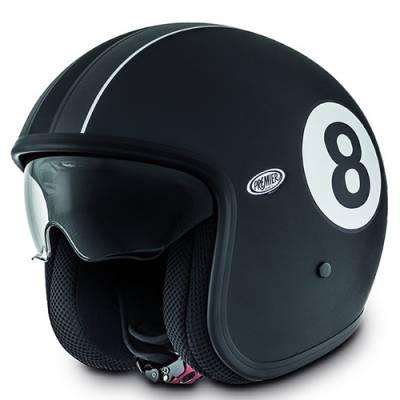 Premier Helm Vintage Eight 9BM, schwarz-weiß-matt
