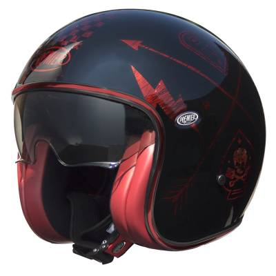 Premier Helm Vintage NX Red Chromed, schwarz-rot