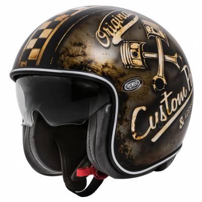 Premier Helm Vintage OP 9 BM, schwarz-braun matt
