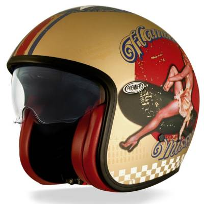 Premier Helm Vintage Pin Up Gold BM, gold-matt
