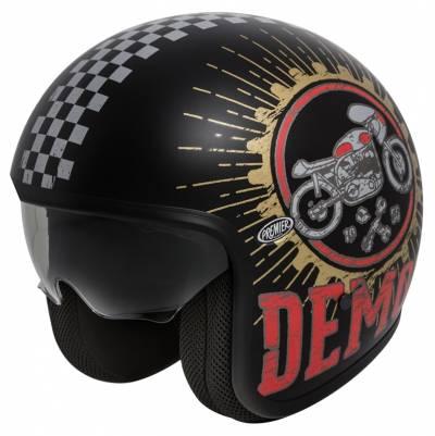 Premier Helm Vintage Speed Demon 9BM, schwarz-rot matt
