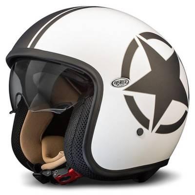 Premier Helm Vintage Star 8BM, weiß-schwarz-matt