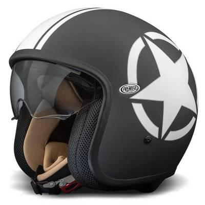 Premier Helm Vintage Star 9BM, schwarz-weiß-matt