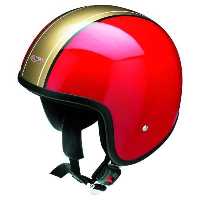 Redbike Halbschalenhelm RB656, rot-gold