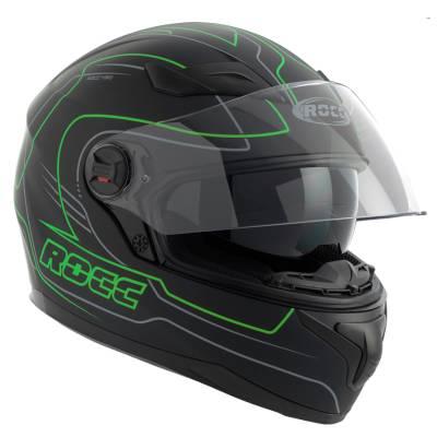 ROCC 491, Integralhelm, schwarz-grün-matt
