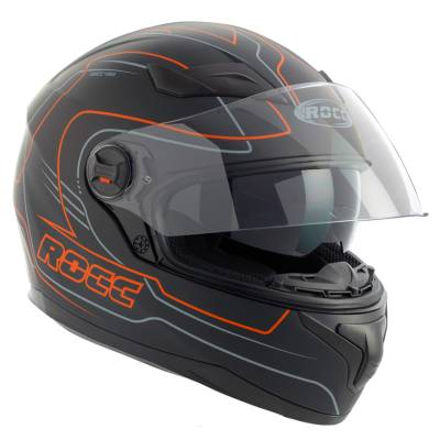 ROCC 491, Integralhelm, schwarz-orange-matt