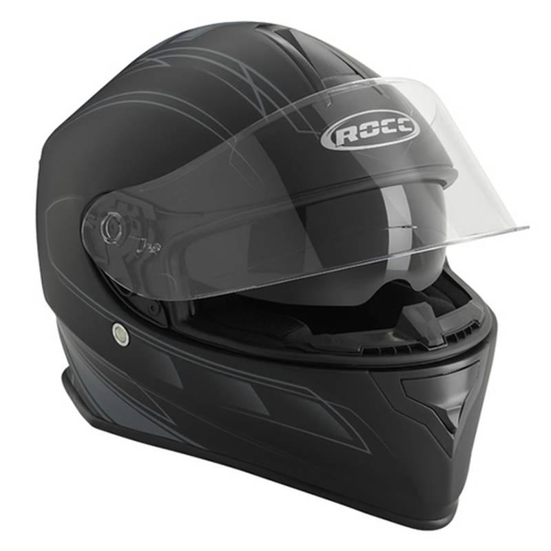 ROCC Helm 431, schwarz-silber matt