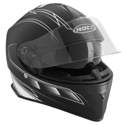 ROCC Helm 431, schwarz-weiß matt