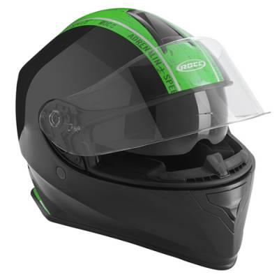 ROCC Helm 432, schwarz-grün