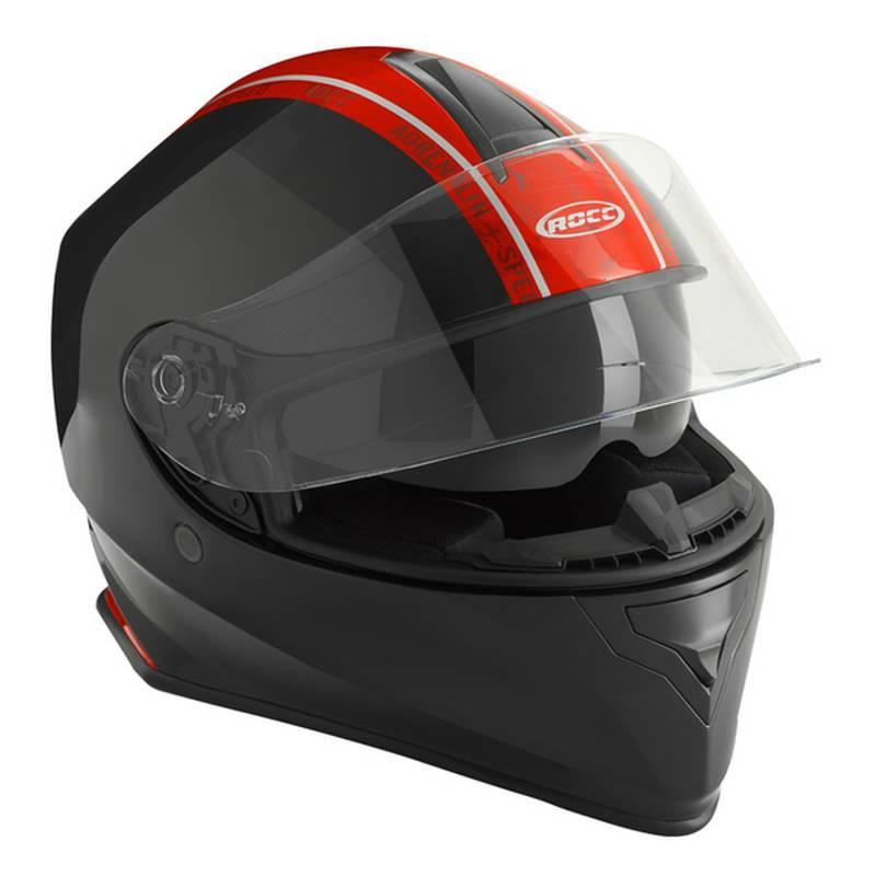 ROCC Helm 432, schwarz-rot
