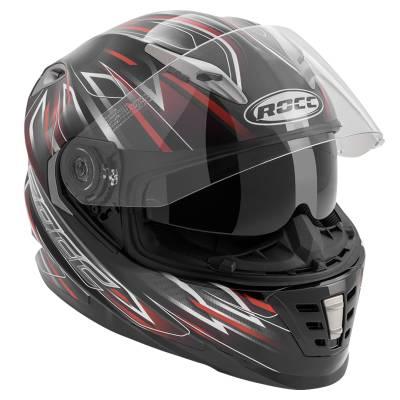 ROCC Helm 483, schwarz-rot