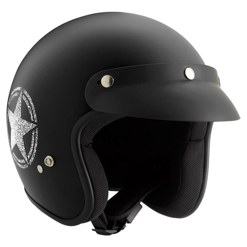 ROCC Helm Classic Star, schwarz-weiß matt