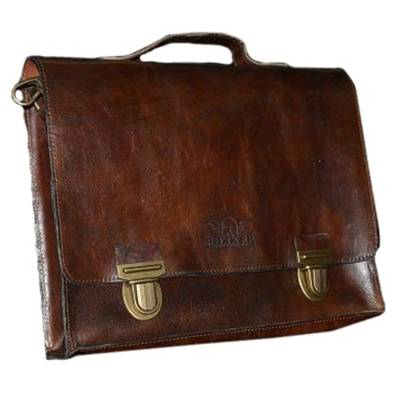 ROKKER Aktentasche Brief Case, dunkelbraun