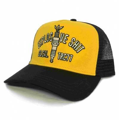 ROKKER Cap Explosive Shit Trukker, gelb-schwarz