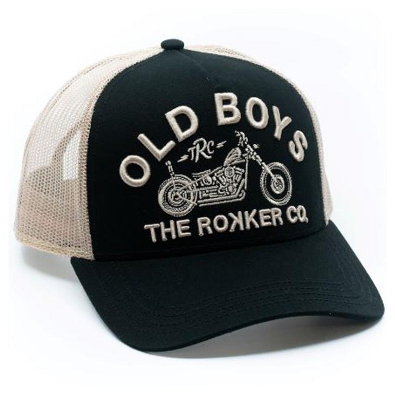 ROKKER Cap Old Boys Trukker, schwarz-beige