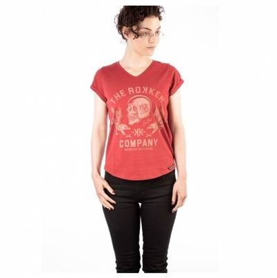 ROKKER Damen T-Shirt Eagle, rot