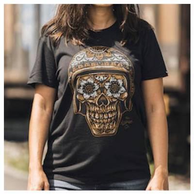 ROKKER Damen T-Shirt La Catrina Loose Fit, schwarz