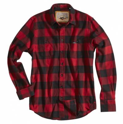 ROKKER Hemd Denver Red check, rot-schwarz