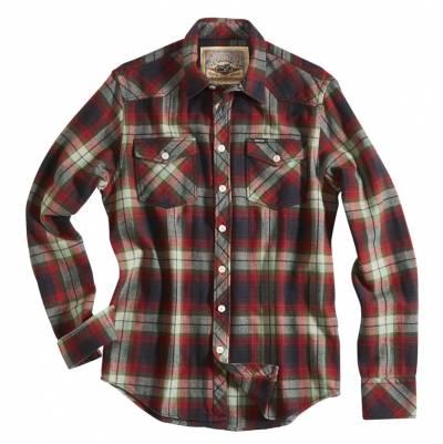 ROKKER Hemd Lincoln Green/Red, schwarz-rot-grün