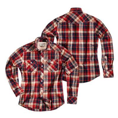 ROKKER Hemd Wisconsin, rot-beige-blau
