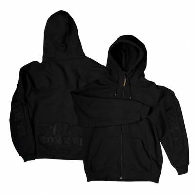 ROKKER Hoody Zip, schwarz