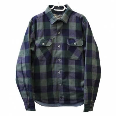 ROKKER Jacke Richmond Rider Shirt, grau-blau