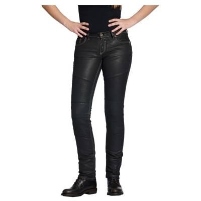 ROKKER Jeans Diva Biker Style, L34, schwarz