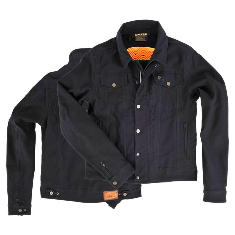 ROKKER Jeans Jacke black jakket