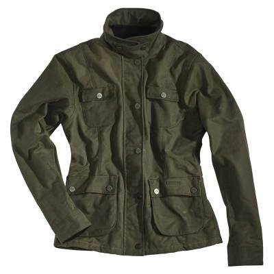 ROKKER Jeans Jacke Wax Cotton Jacket Lady lang, racing green