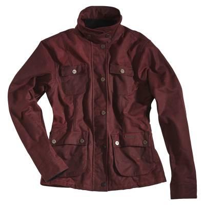 ROKKER Jeans Jacke Wax Cotton Jacket Lady lang, rot