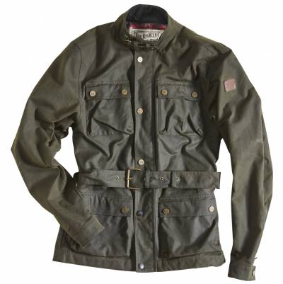 ROKKER Jeans Jacke Wax Cotton Jacket lang, racing green