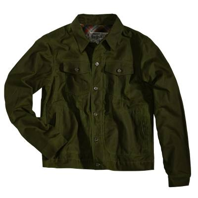 ROKKER Jeans Jacke Wax Cotton Jacket, racing green