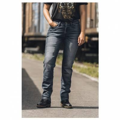 ROKKER Jeans Rokkertech Mid Straight Lady, L32 blau