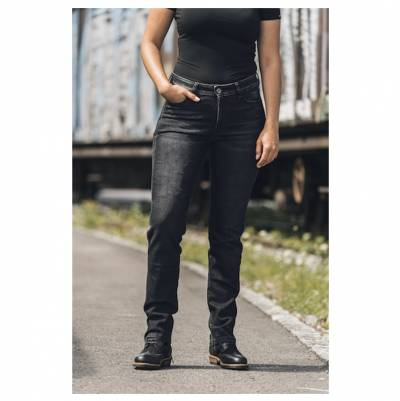 ROKKER Jeans Rokkertech Mid Straight Lady, L32 schwarz