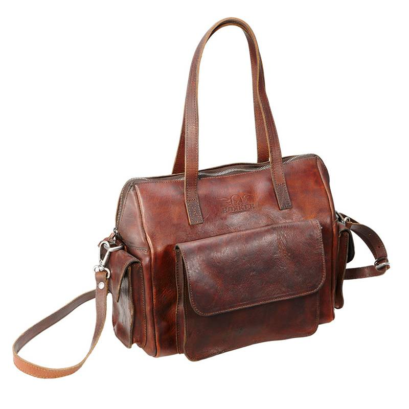 ROKKER Lady Shoulder Bag, dunkelbraun