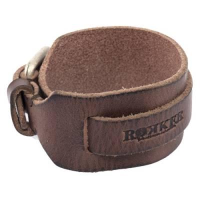 ROKKER Lederarmband Bracelet Lock, dunkelbraun